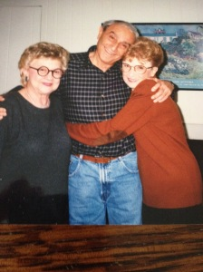My father, Alvin Edelson, with his storytelling sisters, Reva and Anita